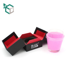Luxury CMYK printing New Arrival double doors bottle gift packaging candle boxes