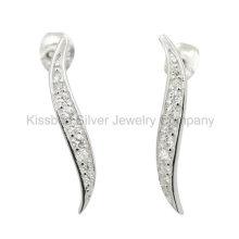 Bijoux en argent sterling à la mode 925, boucles d'oreilles en argent sterling (KE3081)