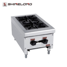 K219 Kitchen Equipment Stainless Steel 2 Burner Gas Stove