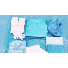 Kit de paquete quirúrgico dental estéril desechable personalizado