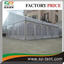 Tente en PVC de 12x20m pour banquet de fête et mariage en plein air