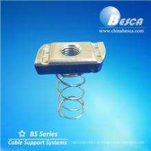 Porca de mola com canal do suporte (UL, cUL, NEMA, IEC, CE, ISO)