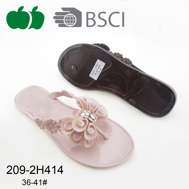 Top Selling Lady New Style Pvc Beach Flip Flops