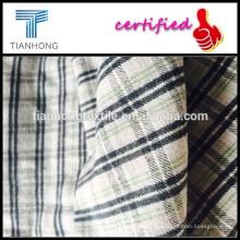 крашенный в пряже спандекс фланелевой ткани / белый зеленый плед фланелевой ткани/толстые шерстяные ткани рубашка