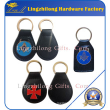 Metal Car Keychain Fob Masonic Leather Keychain