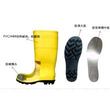 Желтые ботинки безопасности с стальным носком