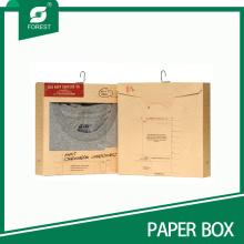 Kraft Undershirt Caja de Embalaje con Gancho y Ventana