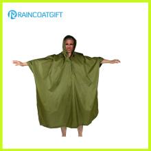 Poncho de pluie de revêtement de PVC de polyester d'adulte de camping Rpy-042