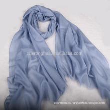 pañuelo kashmiri pashmina liso color azul