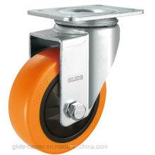 Rodízio de PP com rolamento de serviço médio (laranja) (G3103)