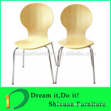 Fast food rerstaurant durable MDF bentwood dining chair