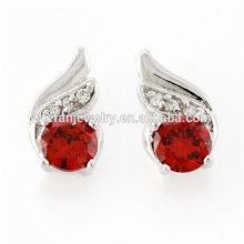 Acessórios de preço de fábrica para jóias com diamantes brincos de anjo da asa do parafuso prisioneiro