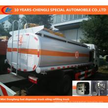 Mini 4, 000 litros de caminhão do distribuidor do combustível, lubrificando de lubrificação Truc