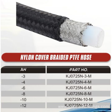 Nylon cover braided PTFE hoses