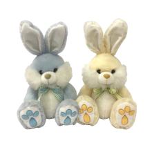Пасхальный кролик плюшевый с бантом