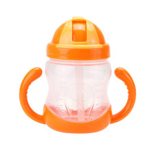 baby products training drinking straw bottle with a handle sippy cup