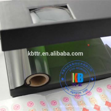 Security printer uv ribbon black to green yellow printing anti-fake labels