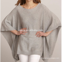 15PKCSP12 Trendy 70 %wool 30%cashmere poncho sweater