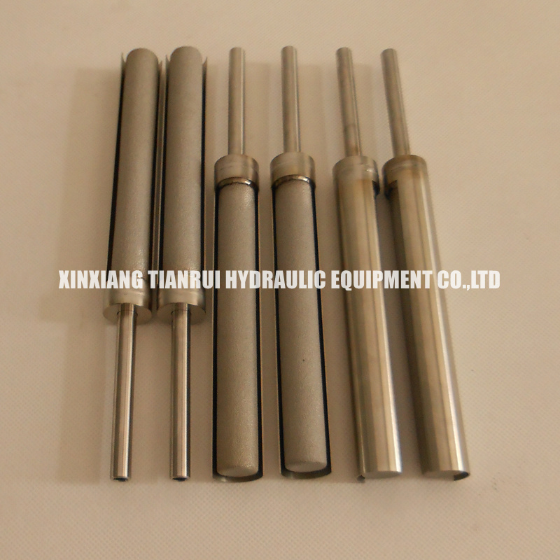 Sampling probe sintered stainless steel powder filter