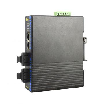 Industrial Gigabit Ethernet Switch with 2 Fiber Redundant