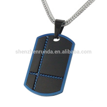cheap 316l stainless steel jewelry iP blue and black dog pendant for men