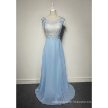 LSQ038 Cheap white and light blue a line cap sleeve names of ladies formal dresses for girls chiffon maxi dresses