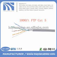 1000FT RJ 45 Cat5e Network Ethernet Bulk FTP Cable
