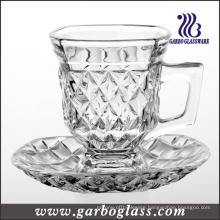 5oz Glass Mug Set for Tea or Coffee (TZ-GB09D1405ZS)
