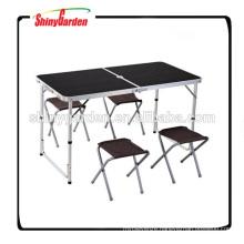 folding portable aluminium table and chair set