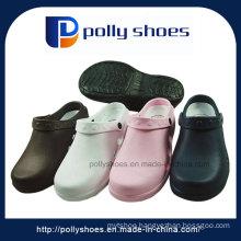 Women′s Black/Pink PVC T-Strap Sandals