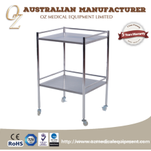 Stainless Steel Hospital Medical Mobile Trolley Commercial Furniture General Use and Hospital Trolley Specific Use