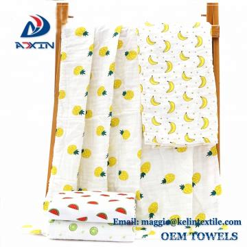 2018 Meilleure vente confortable 110x110cm gaze coton 6 couche bébé mousseline couverture