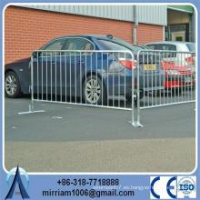 Pies planos de acero barreras de control peatonales galvanizadas