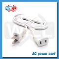 UL CUL NEMA5-15P белый кабель питания с IEC C13