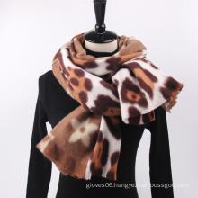 2021 New Arrival Women Winter Soft Warm Pashmina Wraps Shawl Leopard Floral Print Casual Cashmere Scarves