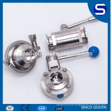 SS304 316 sanitary butterfly valve clamp 1""