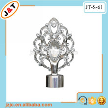 home decoration aluminum stretch metal pole with diamond curtain finial