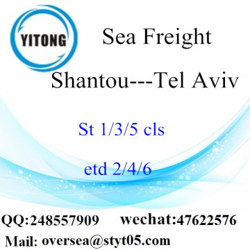 Shantou Port LCL Consolidation To Tel Aviv