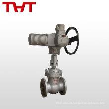 astm a216 wcb brida válvula de compuerta de acero inoxidable dn100 con actuador eléctrico