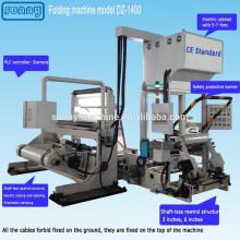 CE genehmigt Kunststofffolie Falzmaschine für alle Arten von Film-Modell DZ1400