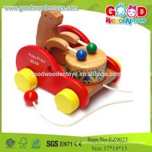 Super alta qualidade de madeira de venda de Poko Poko Bear Drum, brinquedos musicais para crianças