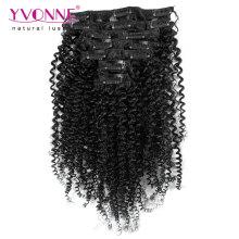 100% Бразильский Реми человеческих волос клип в наращивание волос