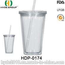 2017 Popular 16oz BPA Free Double Wall Plastic Tumbler (HDP-0174)
