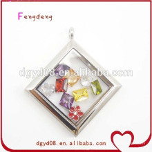 Stainless steel square wholesale charm locket