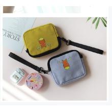 Wholesale Custom New design Wrist purse bag Canvas Cell Phone Bag With zipper