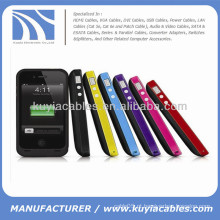 Estendida backup bateria pack poder caso para iphone 4 4s 1900mAh