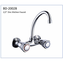 Bd2002b Zinc Double Knomb Faucet de cozinha
