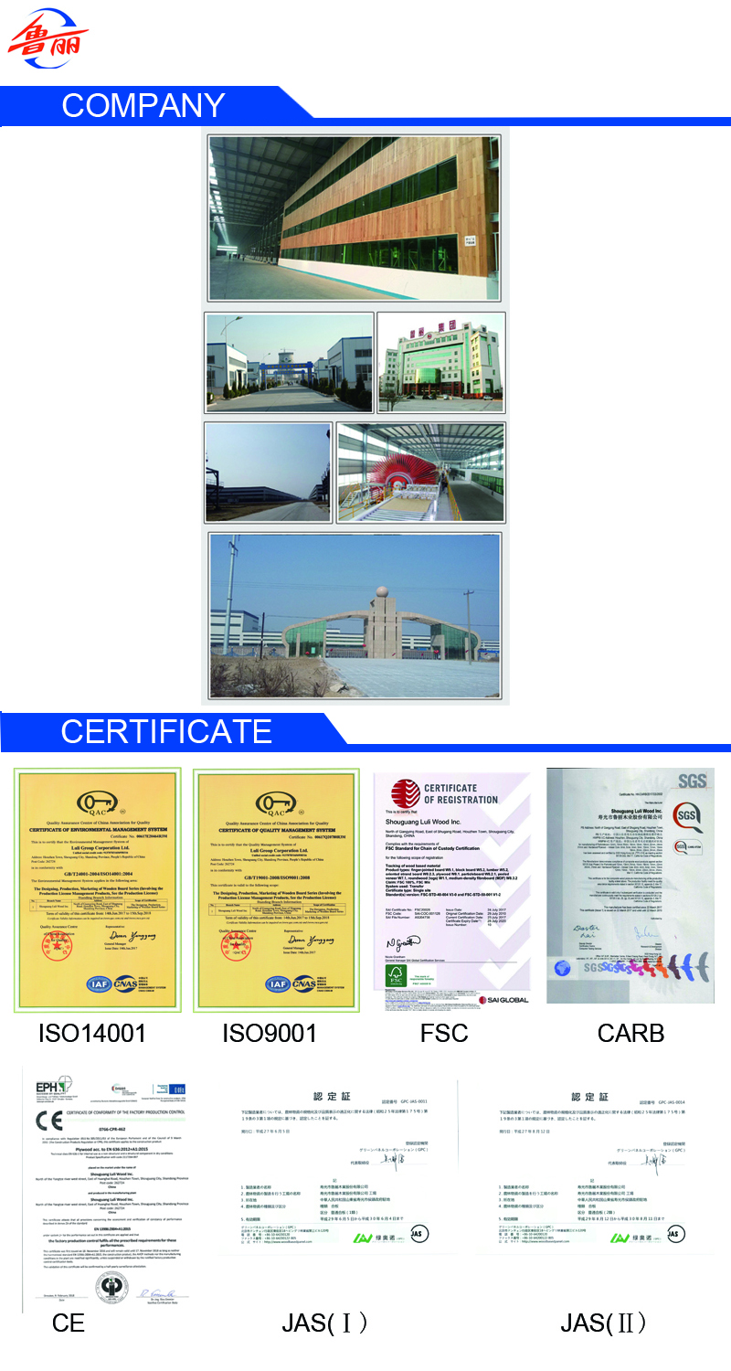 Company And Certificate blockboard