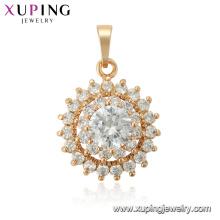 33765 xuping sun shape flower Tres capas de moda nuevo diseño colgante de oro