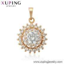 33765 xuping soleil forme fleur Trois couches de mode nouveau pendentif en or design
